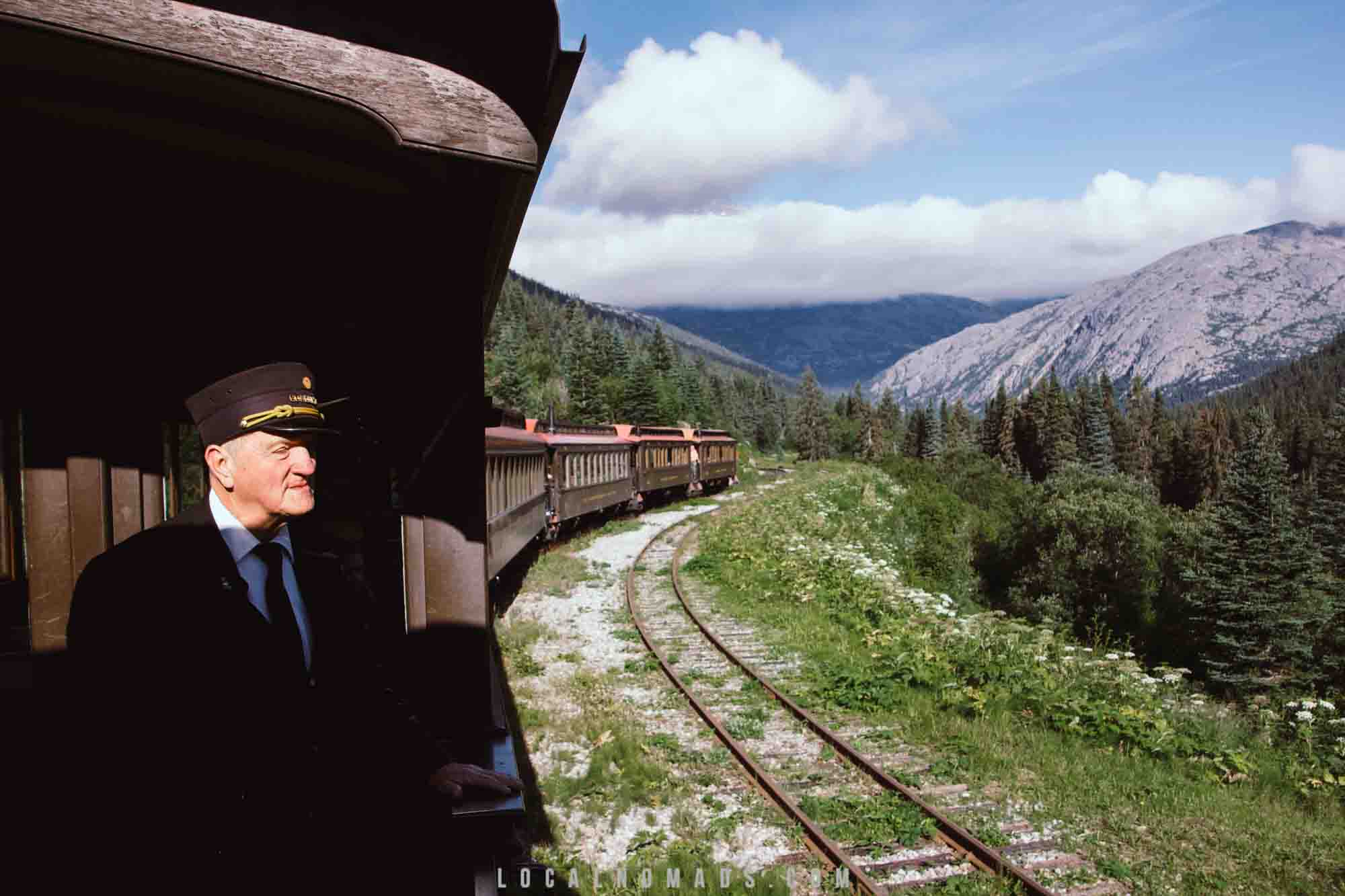 You can get a summer job in Alaska and Ride the White Pass & Yukon Route Train in Skagway, AK.