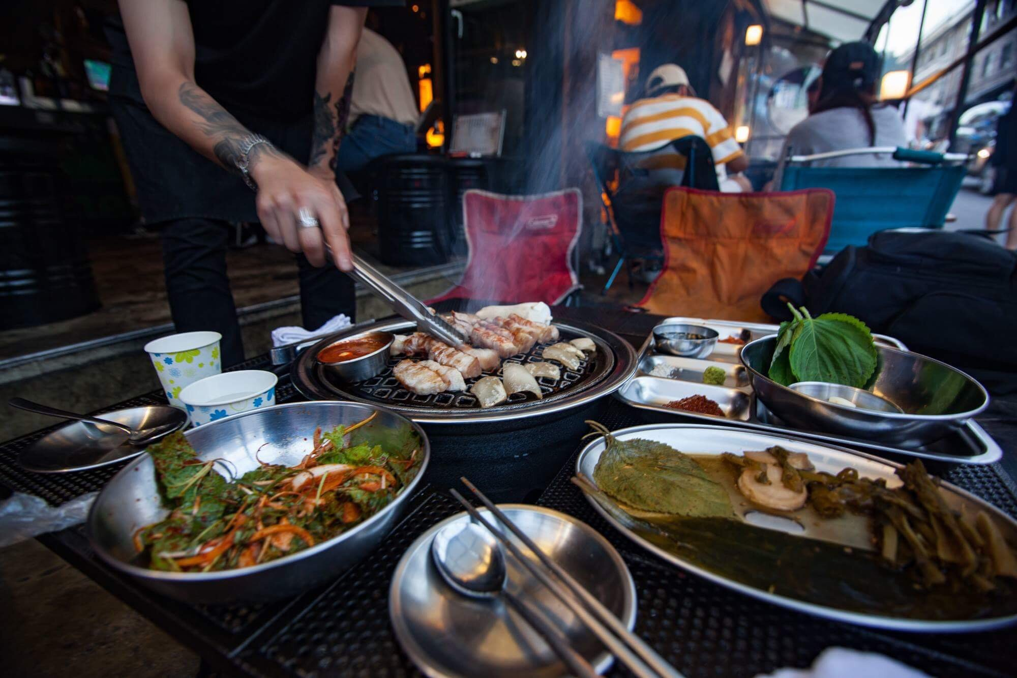Local Noms: Camping Company: Itaewon, South Korea
