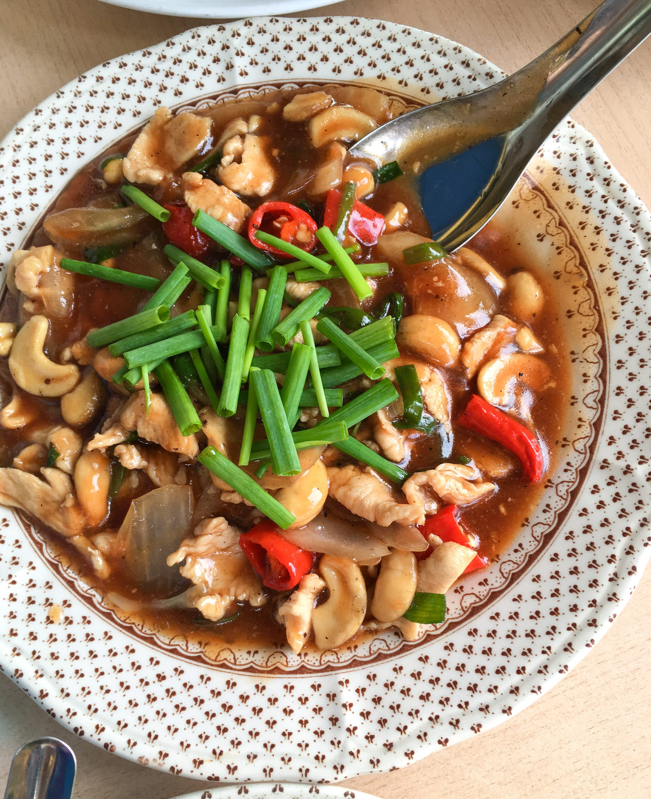Chicken with Cashews Krabi Thailand