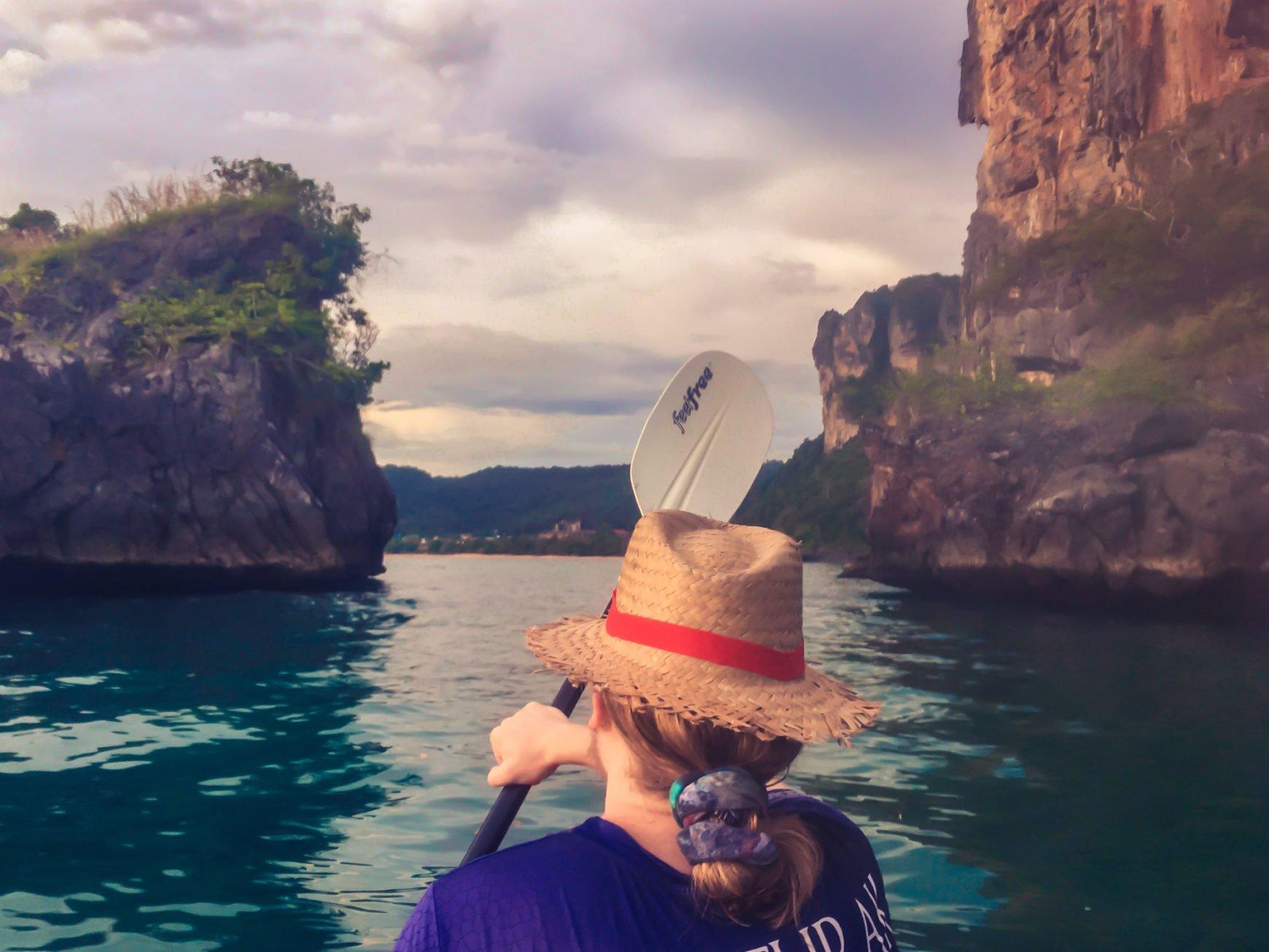 Kayaking in Ao Nang, Thailand