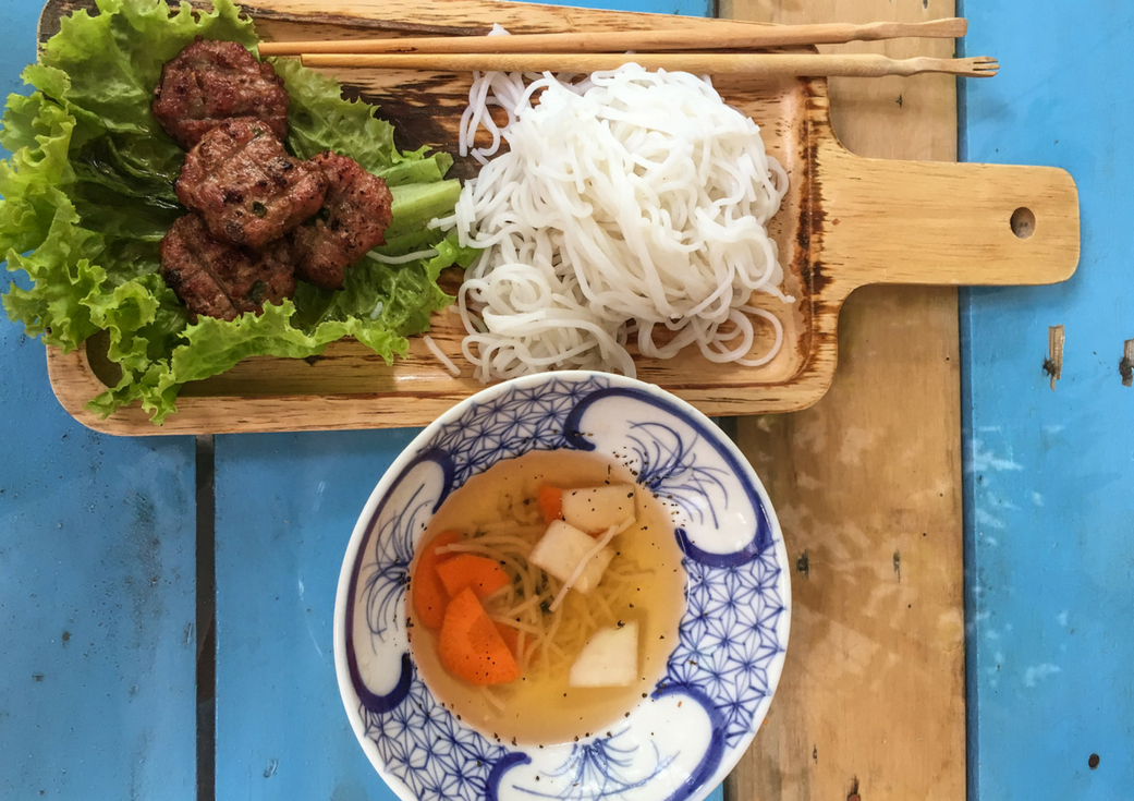 Bun Cha one of or favorite popular Vietnamese Dishes