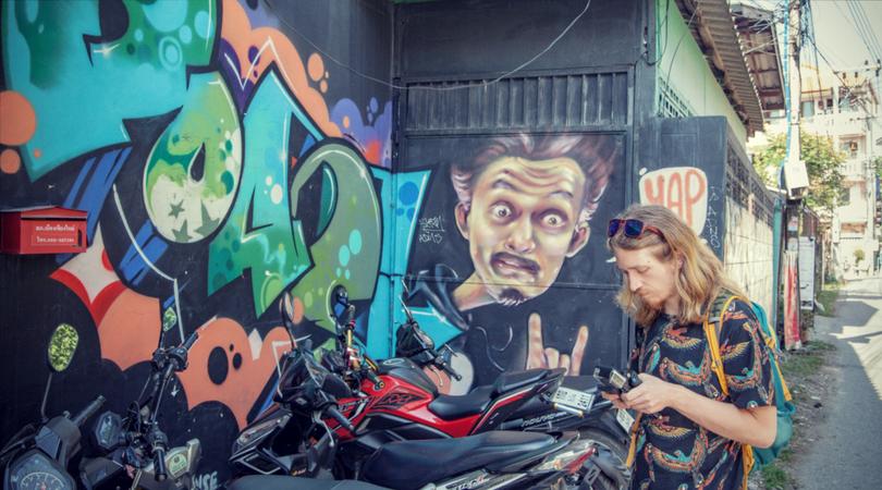 Chiang Mai Street Art Muay Graffiti