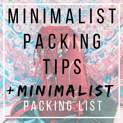 Minimalist Packing Tips