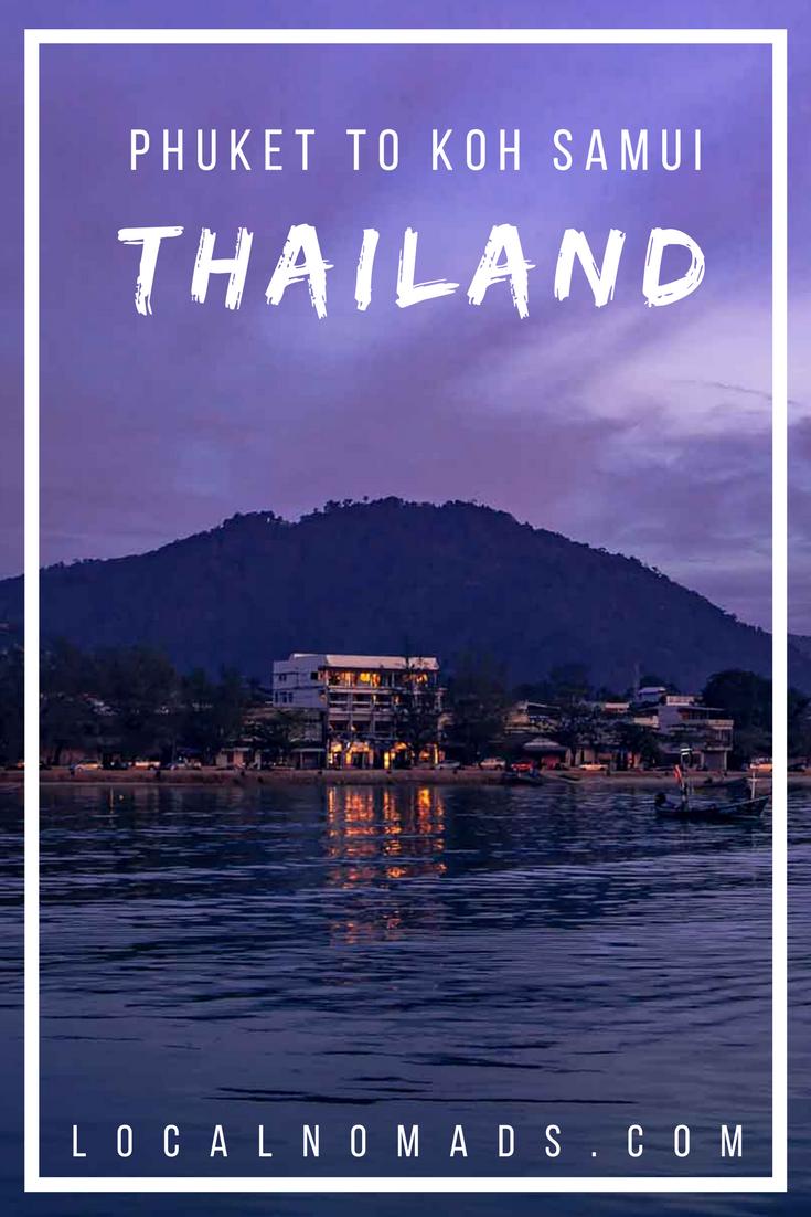 Phuket to Koh Samui Thailand