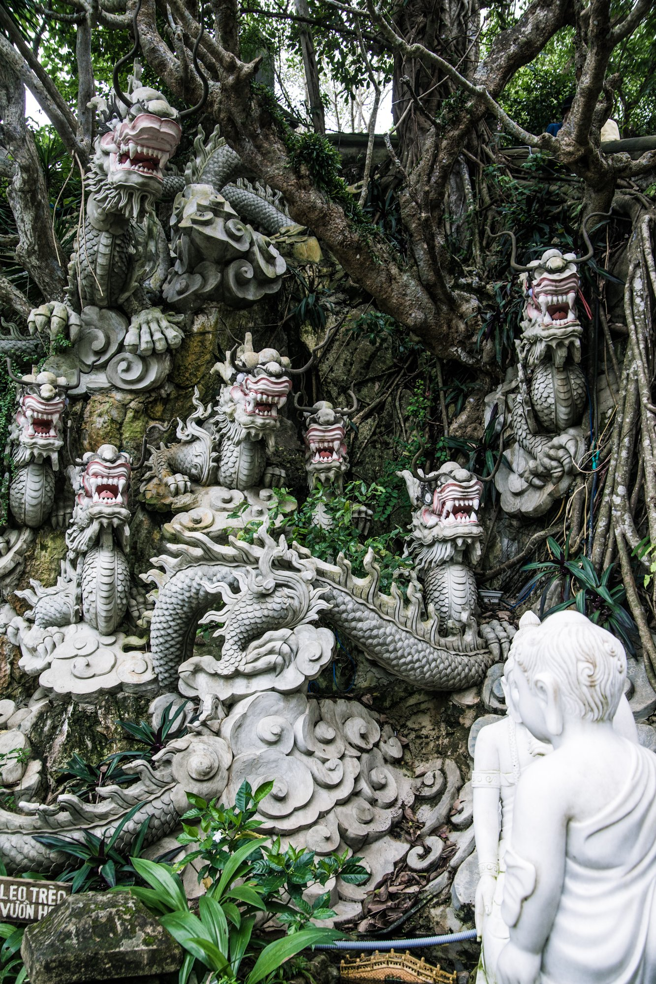 Stone Dragon Heads at Marble Mountain Vietnam