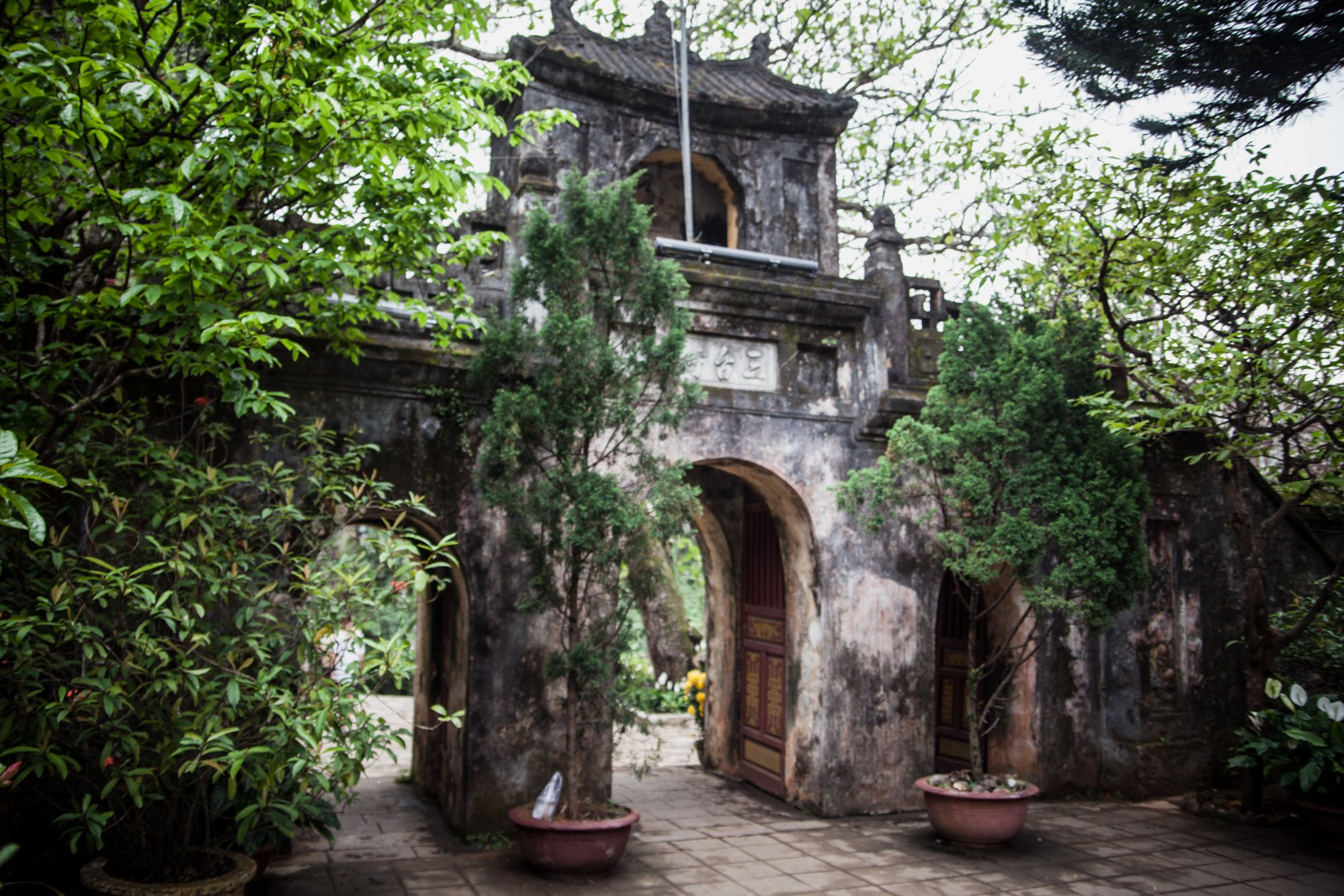 Temple Gate at Marble Mountains Vietnam