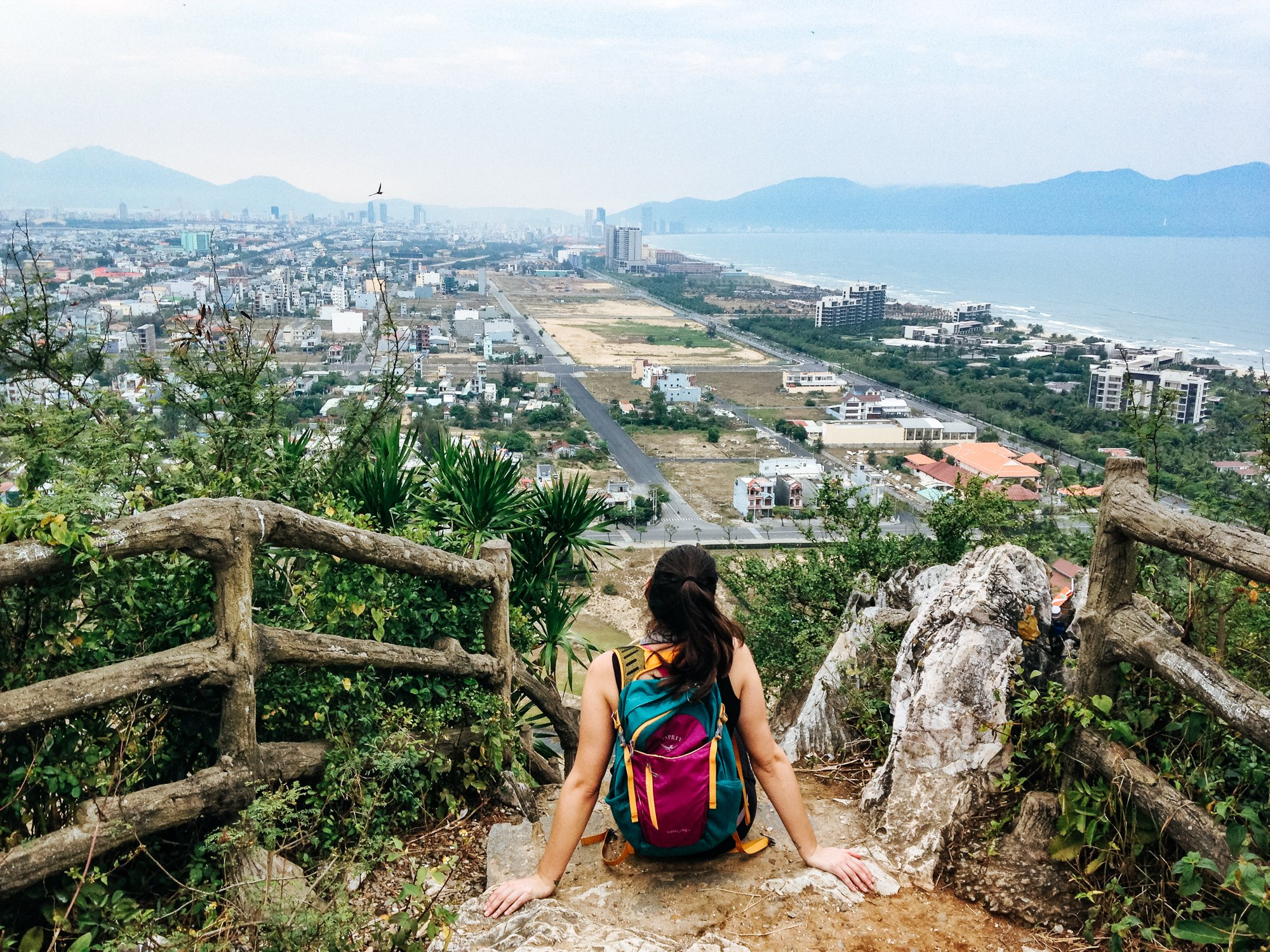 On top of Marble Mountains in Da Nang Vietnam