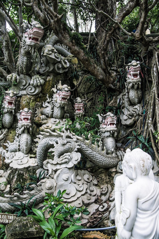 Stone Dragon Heads at Marble Mountain Vietnam