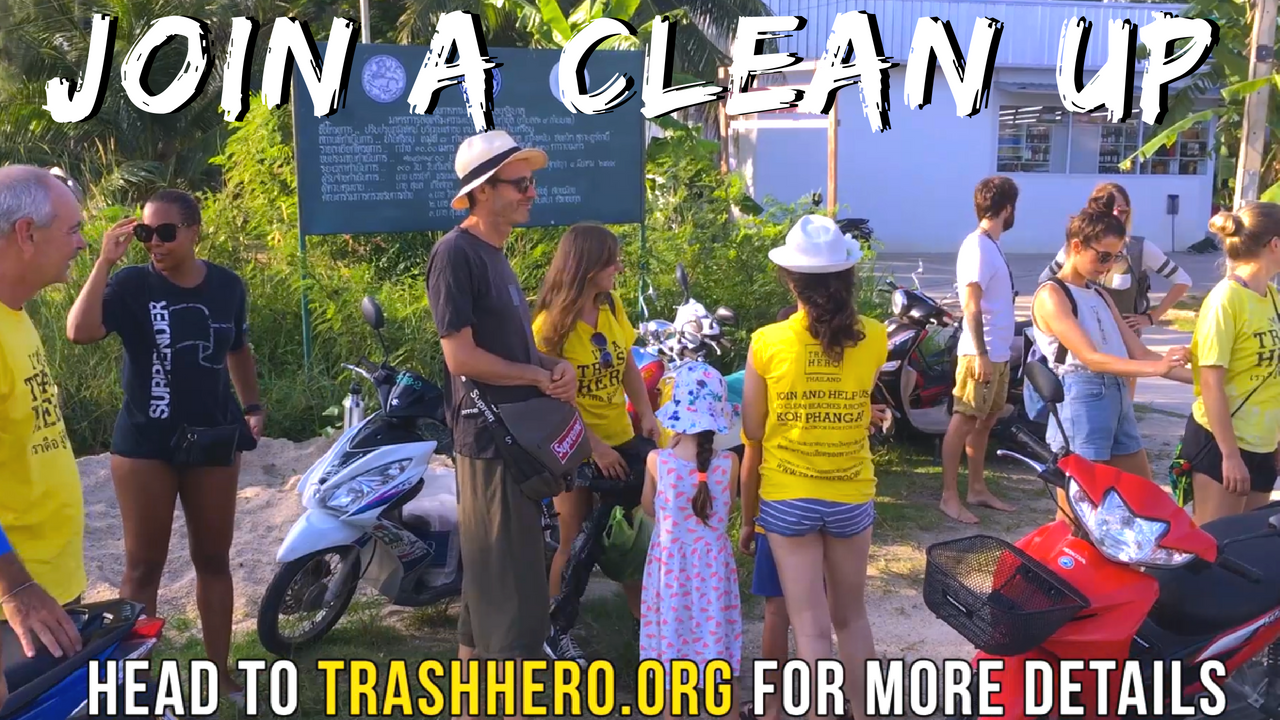 Trash Hero Beach Clean Up on Koh Phangan Thailand