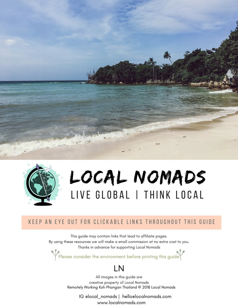 local nomads remotely working koh phangan digital nomad guide to koh phangan thailand