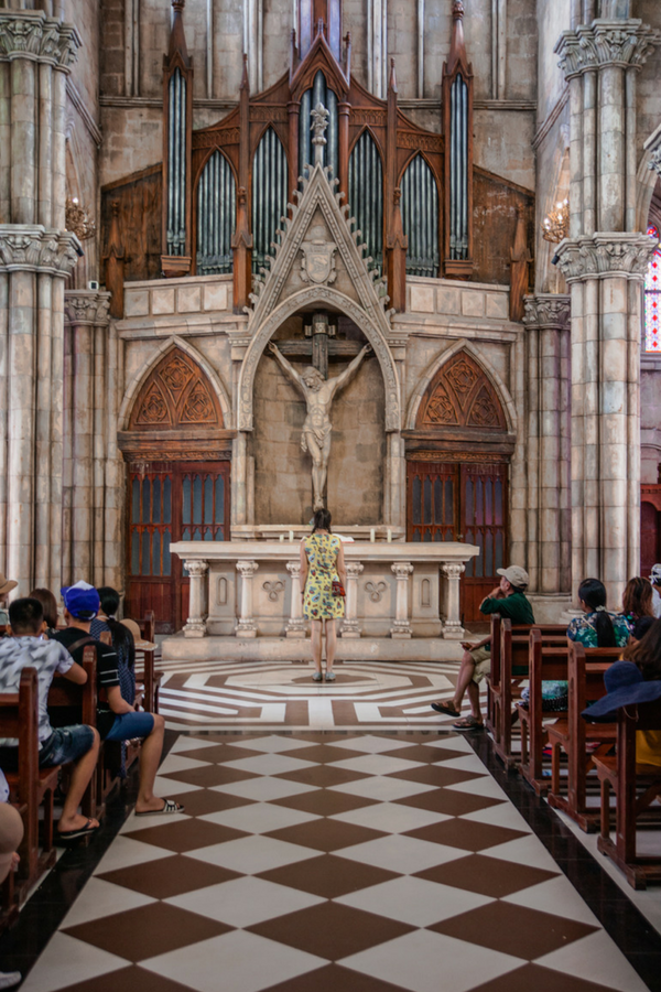 Inside the Cathedral in the French Village at Ba Na Hills