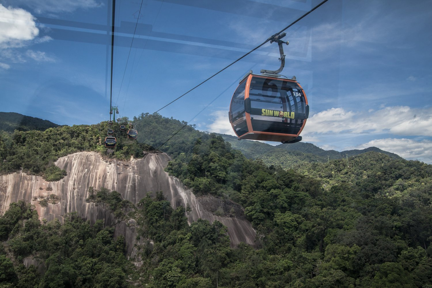 Taking the Cable Car to get to Ba Na Hills