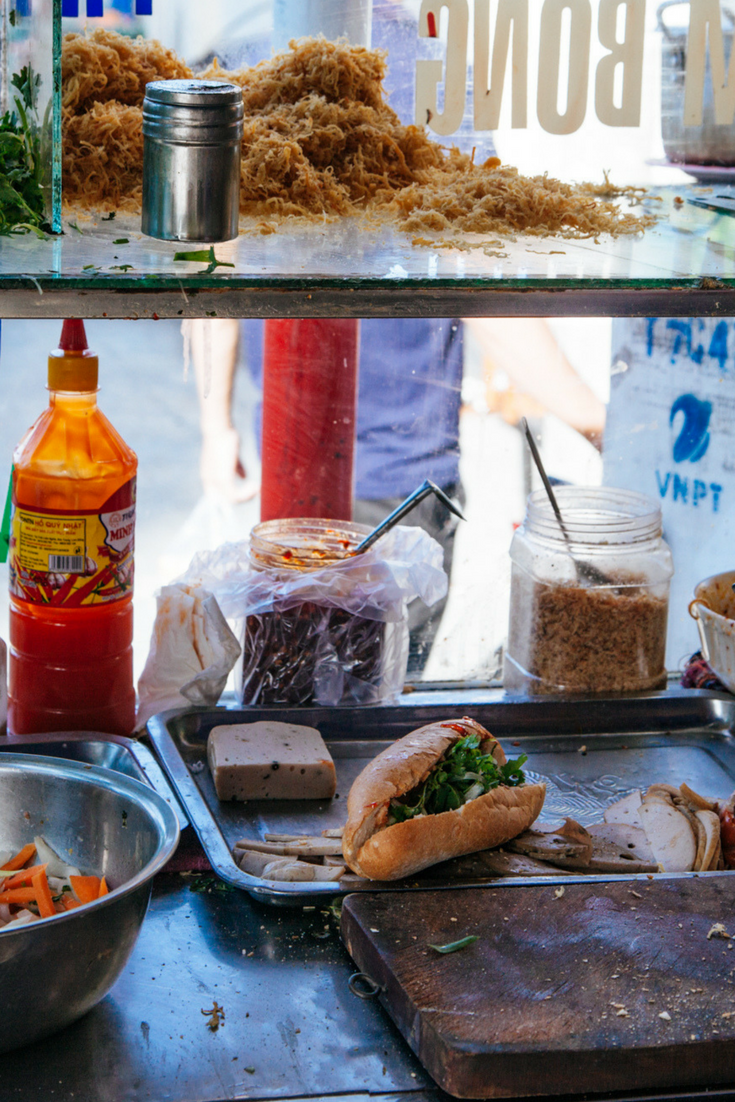 Vietnamese Banh Mi at Local Da Nang Restaurant