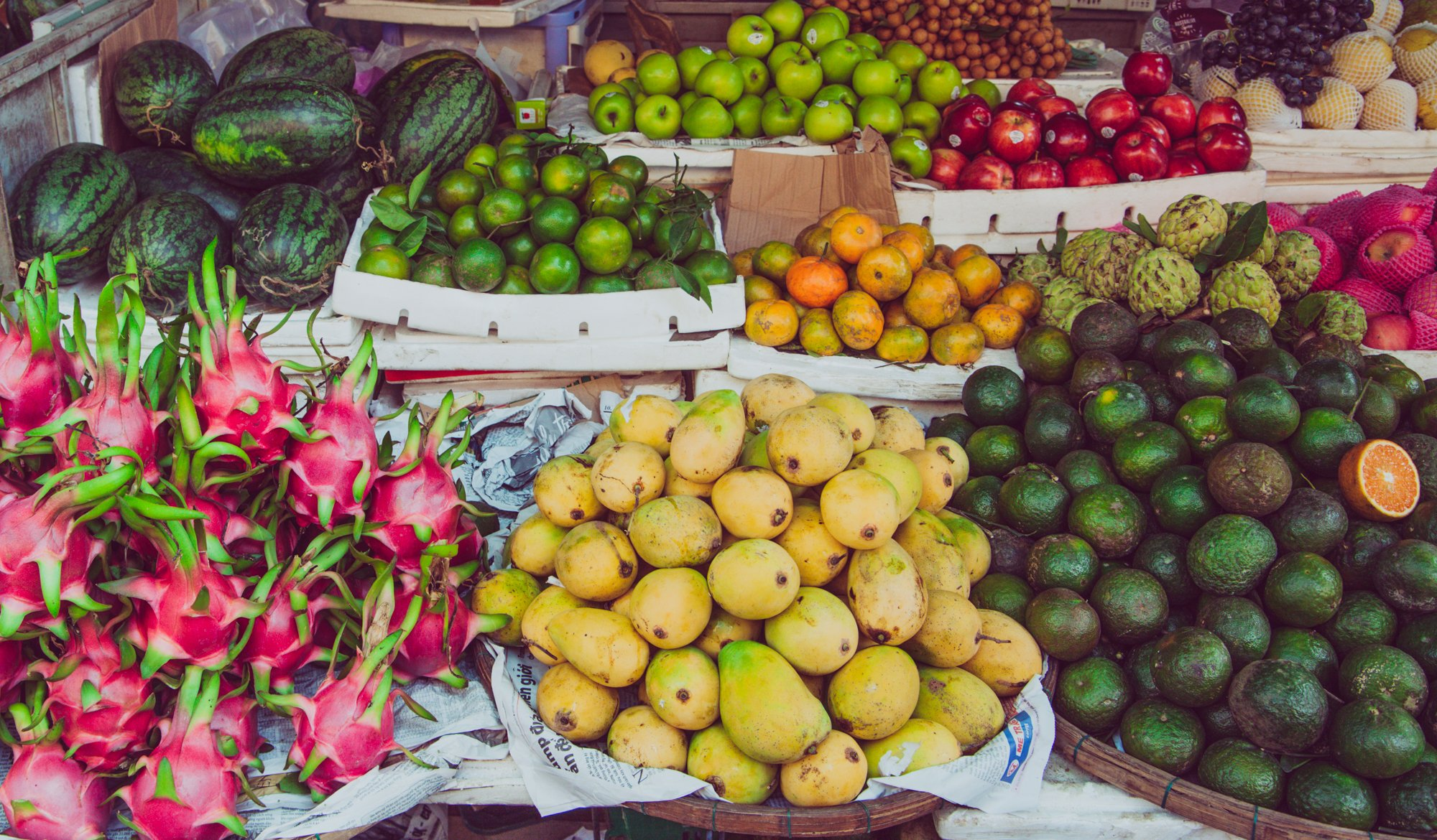 Browsing the Fruits and Vegetables at the local market is one of our favorite things to do in Da Nang