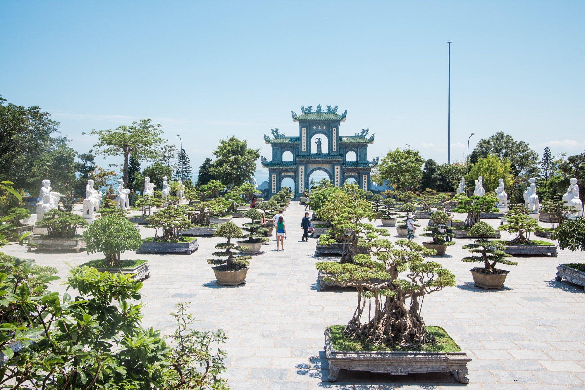Lady Buddha and Linh Ung Pagoda in Da Nang