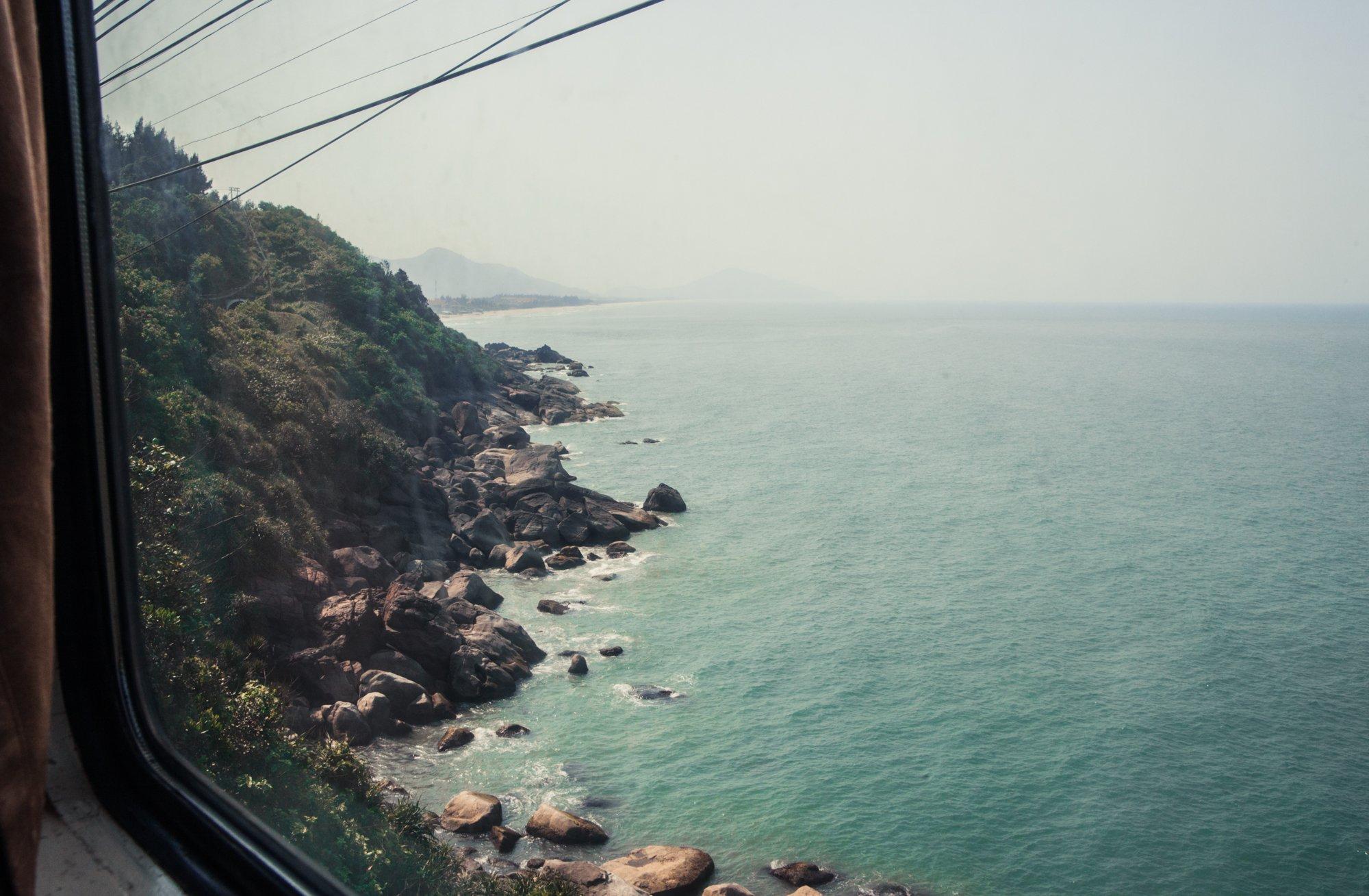 Train Ride over Hai Van Pass from Da Nang to Hue Vietnam