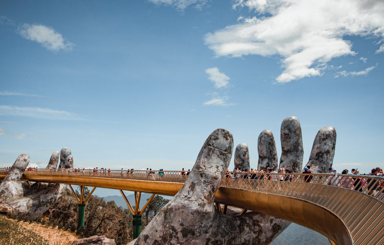 The Golden Bridge at Ba Na Hills Da Nang, Vietnam