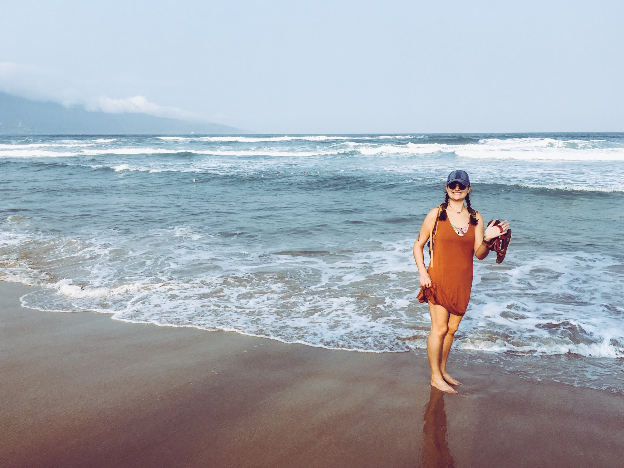 Hanging out on My Khe Beach in Da Nang Vietnam