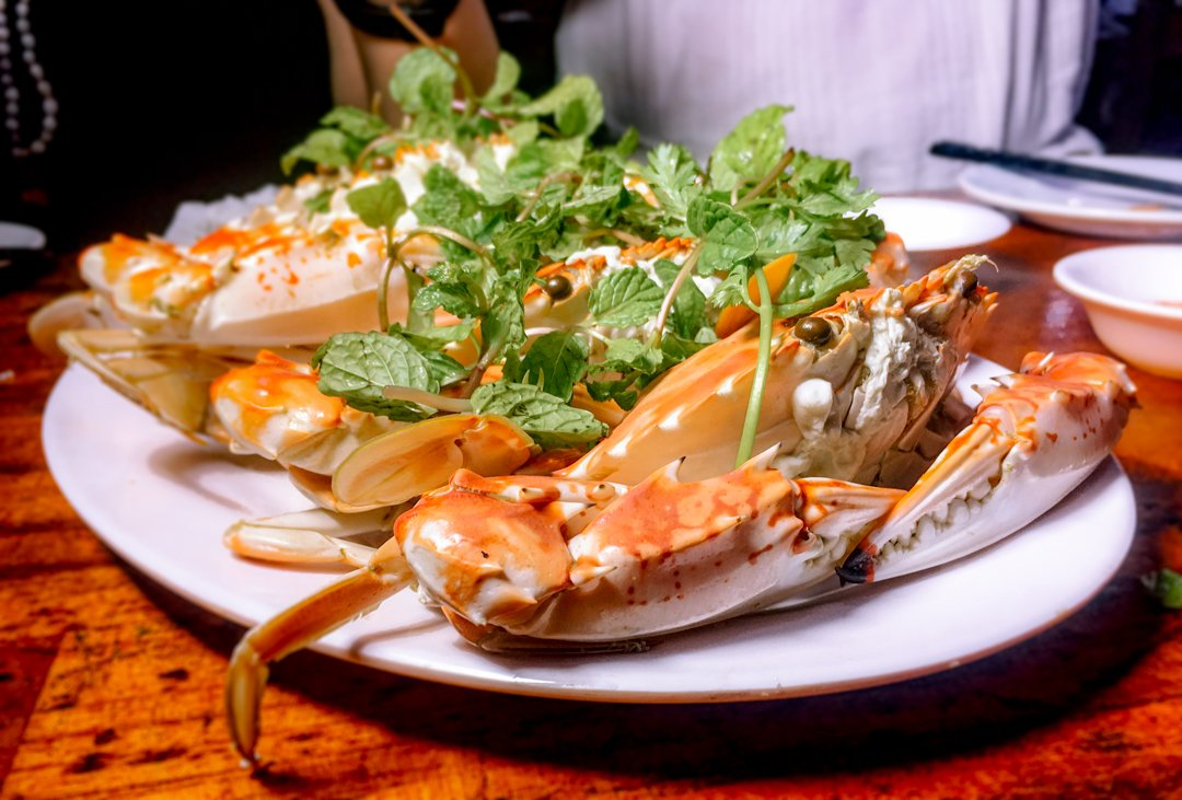 Fresh Steamed Crab is a great choice at any of the Vietnamese Seafood restaurants