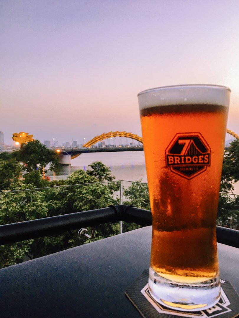 Red Ale at 7 Bridges Brewing Company Tasting Room in Da Nang Vietnam