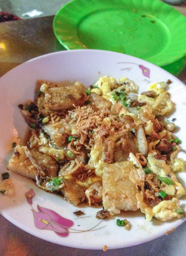 Bot Chien are chewy fried rice cakes with scrambled eggs definitely a comforting Vietnamese dish