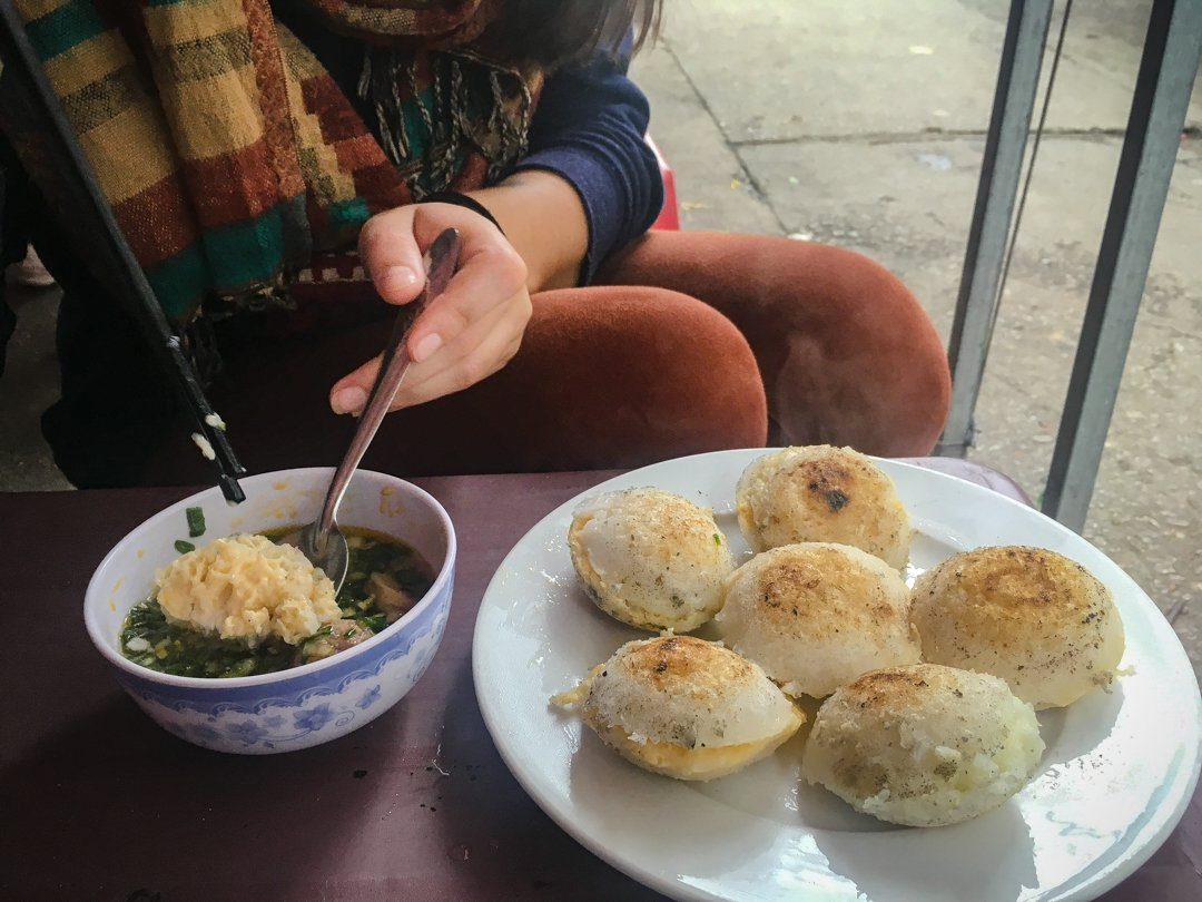 Banh Can is a typical breakfast dish for Vietnamese in Da Lat