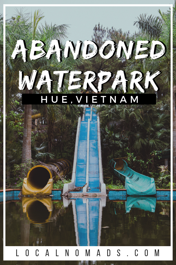 waterslides at the abandoned waterpark Hue Vietnam