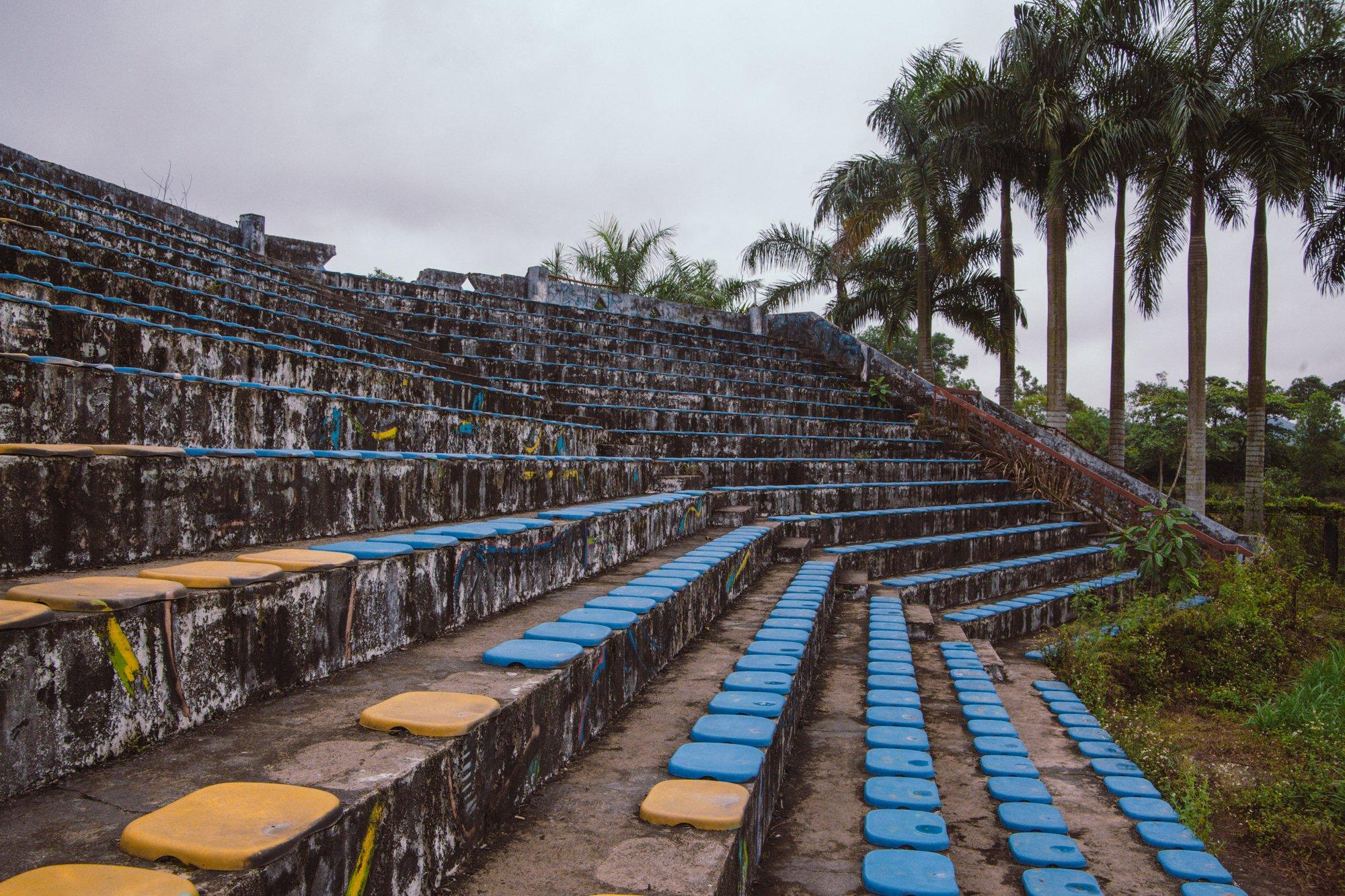 Theatre stadium at the abandoned waterpark hue, vietnam