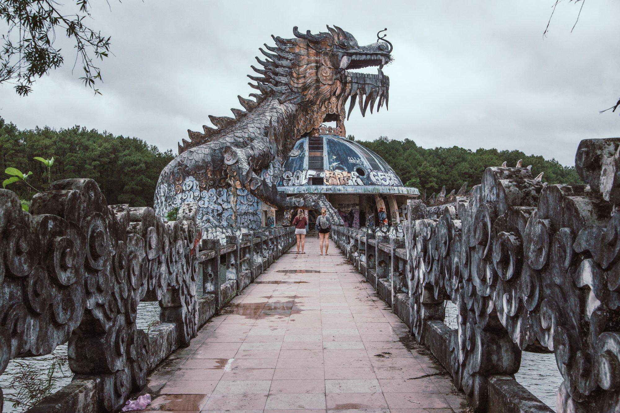 The Dragon at the Abandoned waterpark hue vietnam