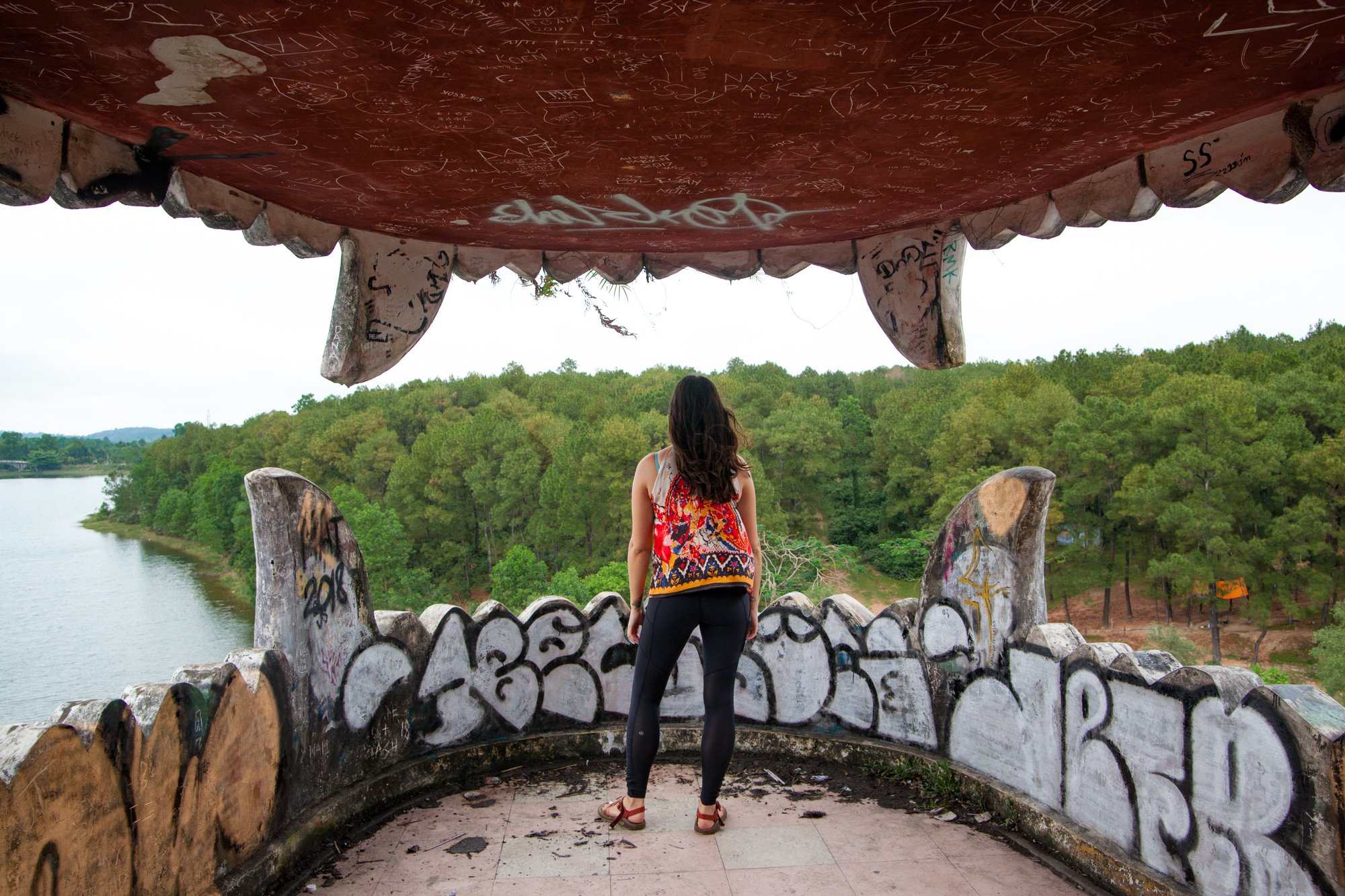 Dragon's Eye View of the abandoned water park in Hue