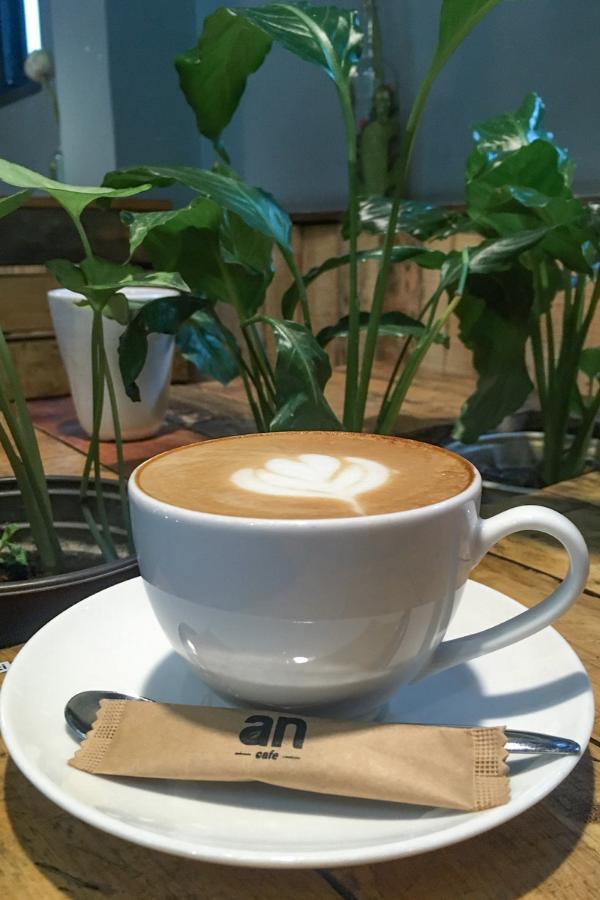 Cafe latte at An Cafe