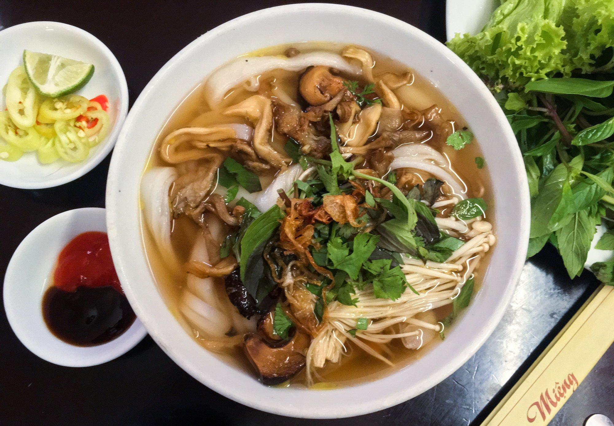 Vegan Mushroom Pho at Hoa Sen in Dalat