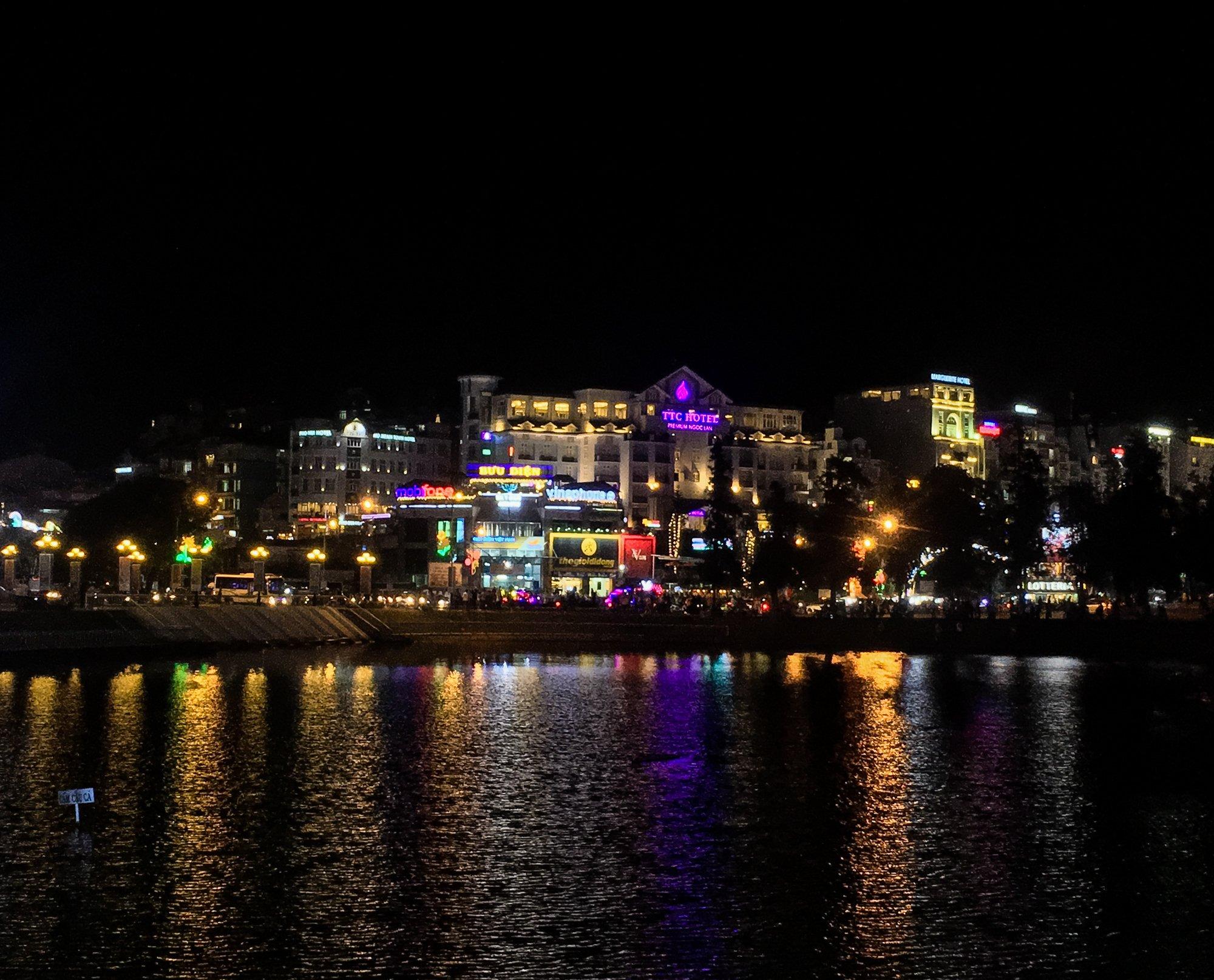 Main Tourist Area of Dalat at night.
