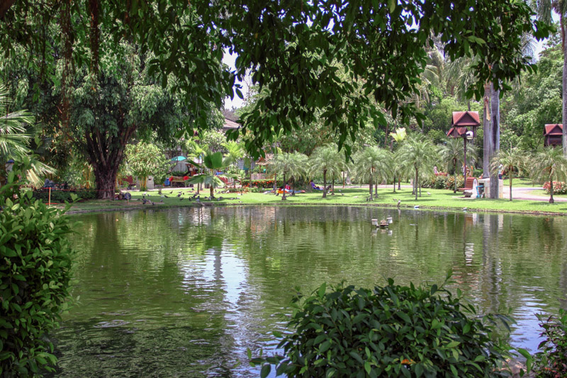 Park and fountain in Chiang Mai, Thailand