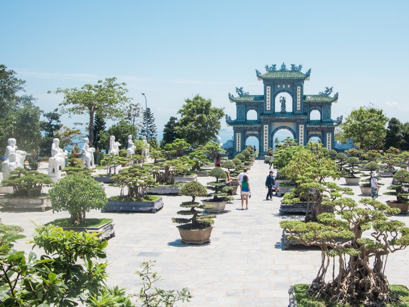 Son Tra Peninsula Temple and Bonsai Garden in Da Nang, Vietnam