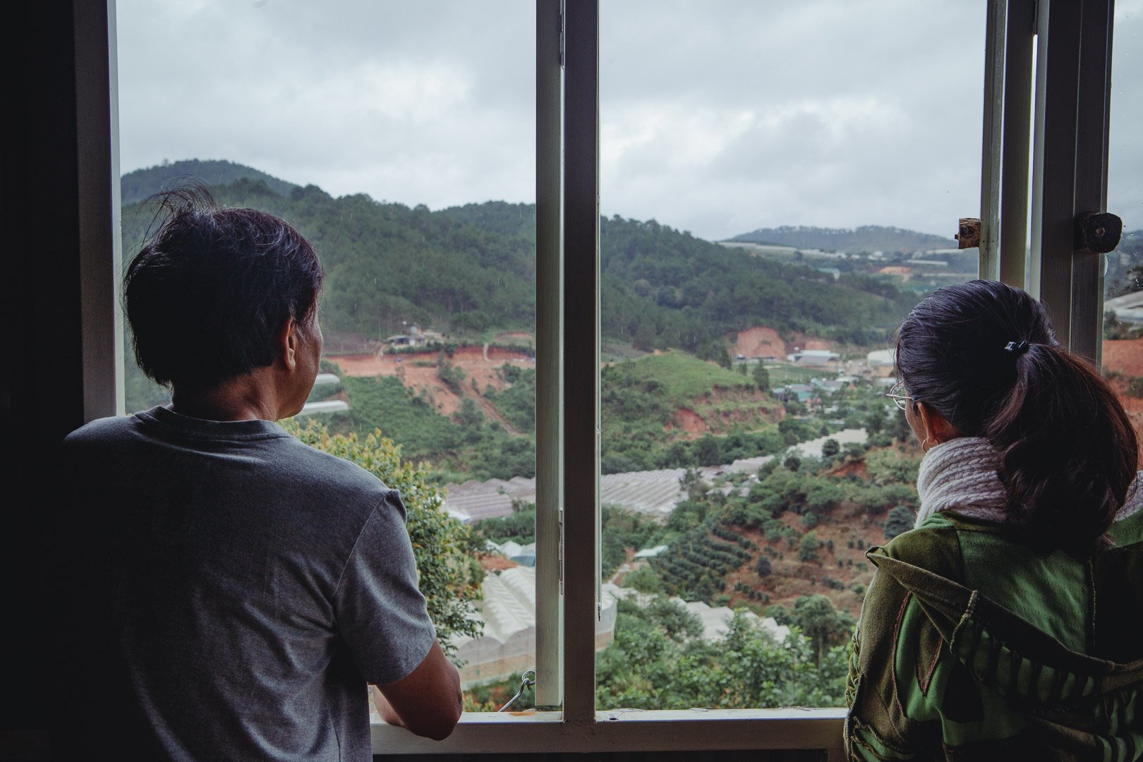 The views of the Dalat coffee farm from the workshop