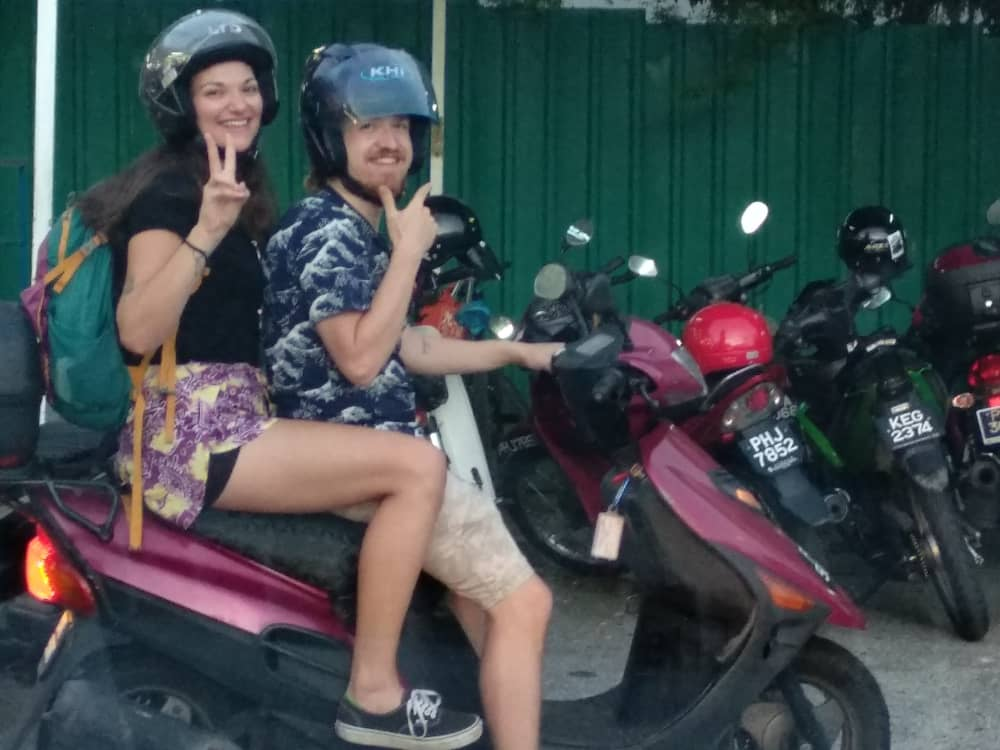 Riding a motorbike to the Avatar Secret Garden