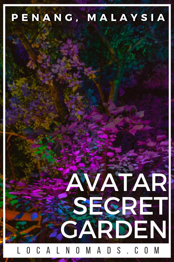 Illuminated leaves at the Avatar Secret Garden Penang create a fantastical experience