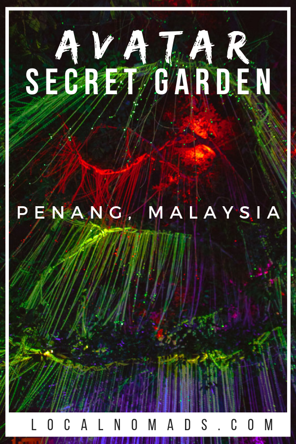 multicolored lights at the Secret Garden Penang