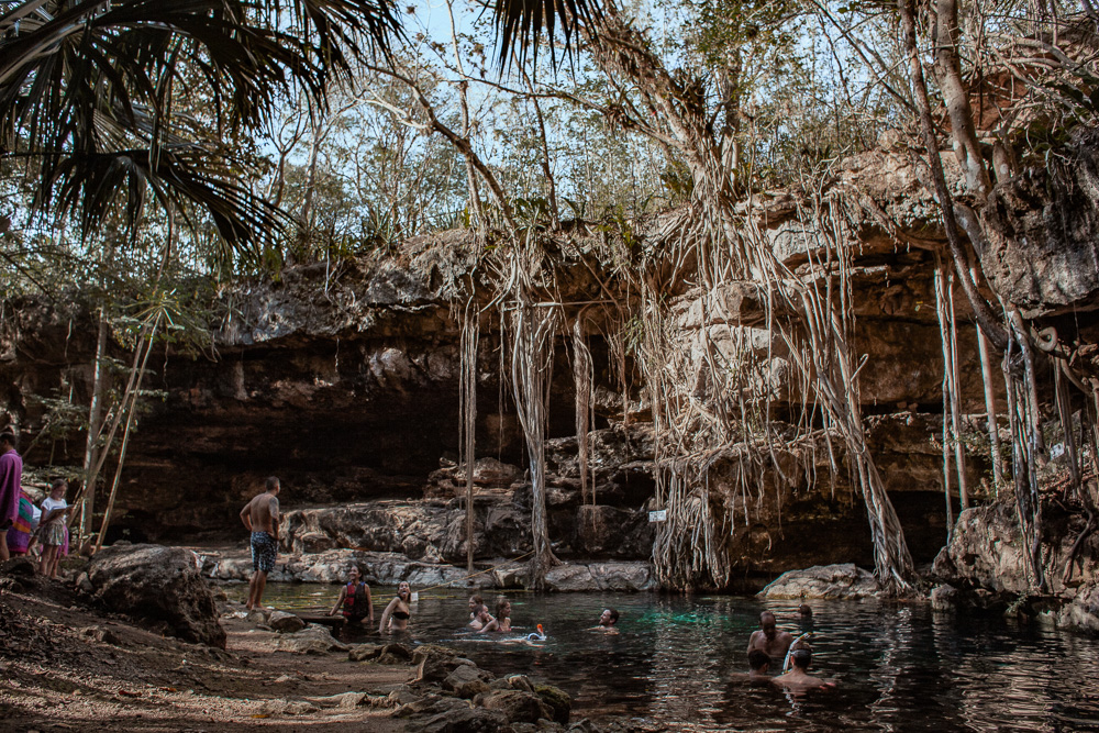 Cenote X'batun outside of Merida, Mexico