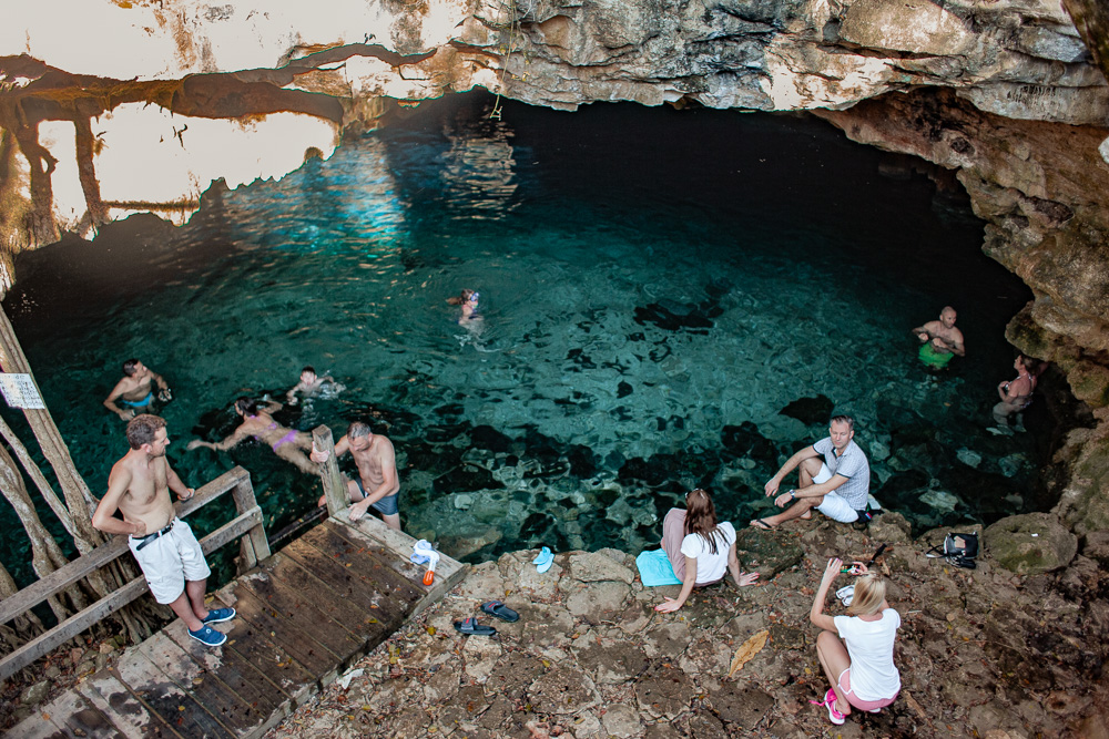 Cenote Dzonbacal outside Merida, Mexico