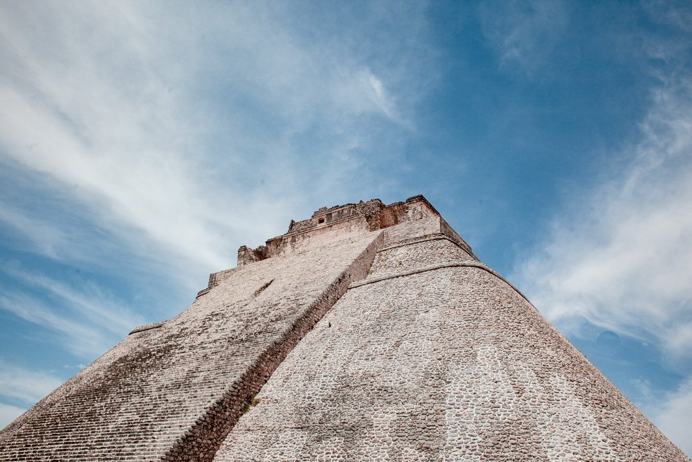 Uxmal Pyramid from below