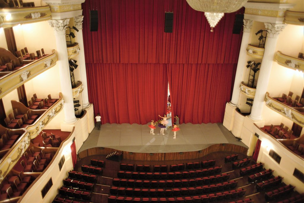 High vantage point of Peon Contreras theater
