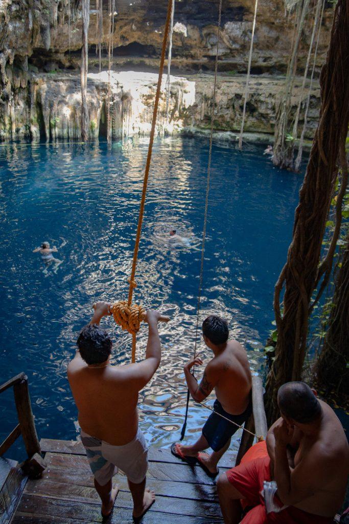 rope swing cenote oxman
