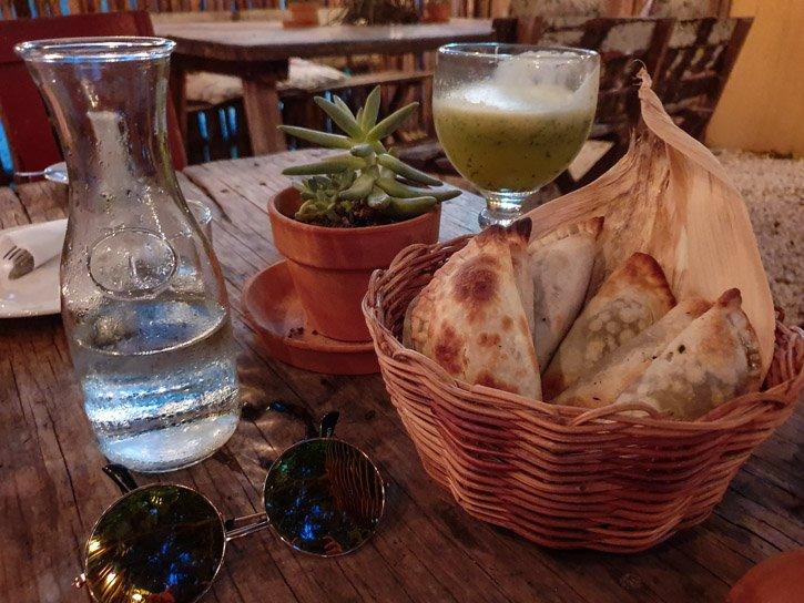 Basket of empanadas
