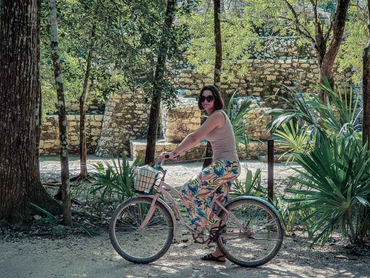 Cycling at Coba Ruins