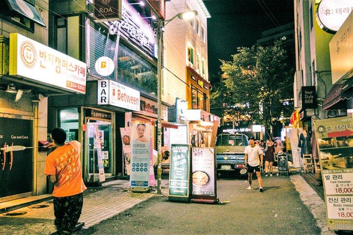 Hongdae street, Seoul